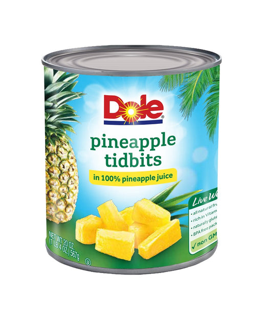 Fancy Pineapple Tidbits in 100% Pineapple Juice
