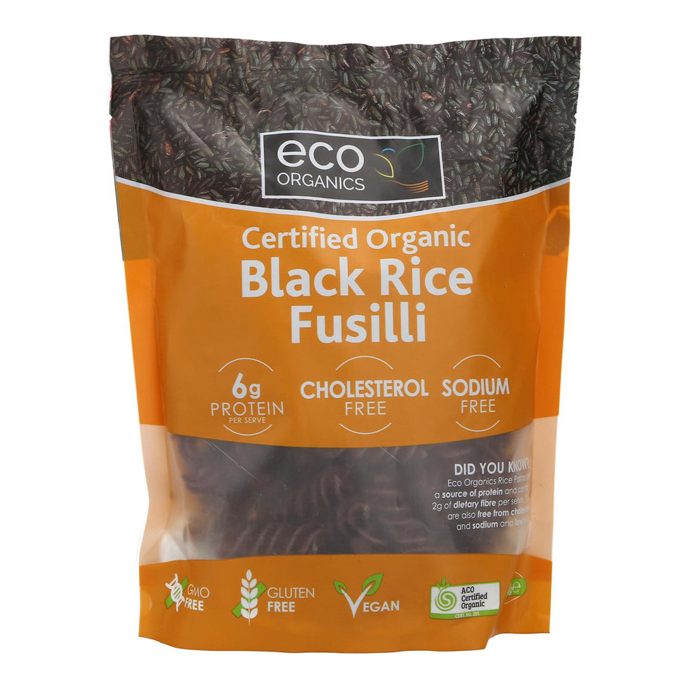 Eco Organics Black Rice Fussili