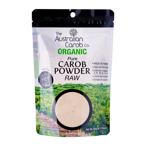 The Australian Carob Co Organic Carob Powder Raw