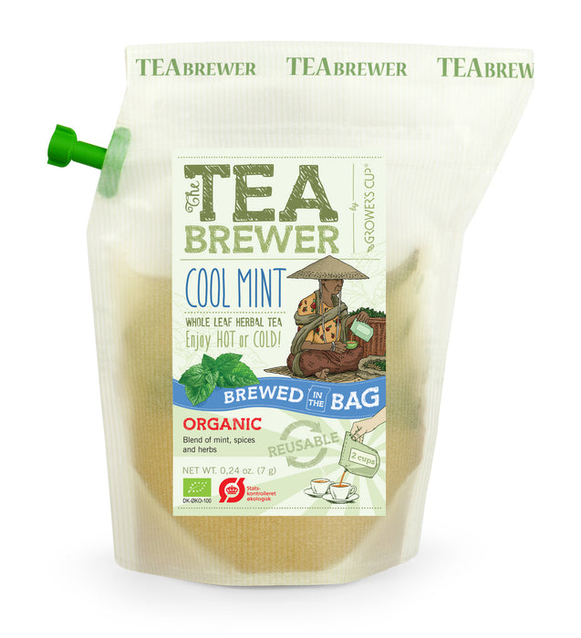 Growers Cup Organic Flavoured Tea : Cool Mint - Whole Leaf Herbal Tea