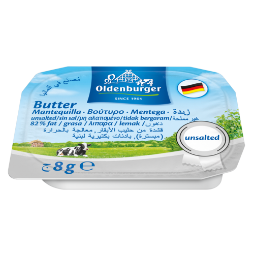 Oldenburger Unsalted Butter Portions - 8G