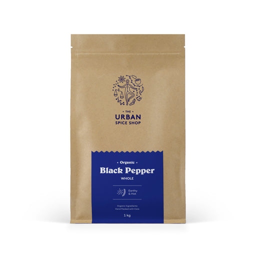 Organic Black Pepper Whole (India)