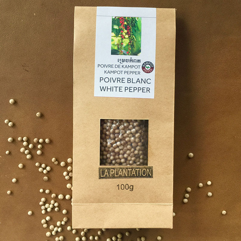 Organic White Kampot Pepper - La Plantation