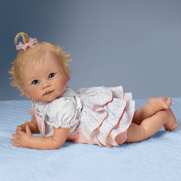 "Baby Doll: Addie's Tummy Time Baby Doll - 20"" by Ashton Drake"