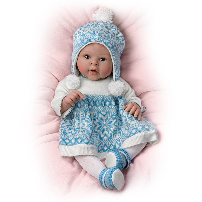 "18"" Sherry Rawn Lifelike Baby Doll with Touch Activated Plush Bear by The Ashton-Drake Galleries"