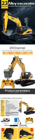 Image of Loader 1583 + Metal Excavator 1580 + Dump Truck 1573 HuINa Package - RC Toy Sellers - HuIna