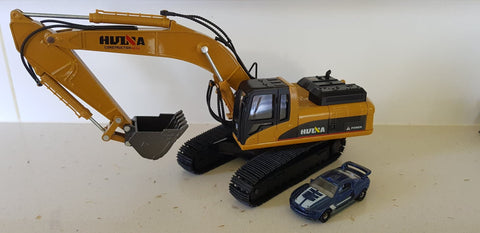 Image of Static Full Die Cast Bulldozer, Dump Truck and Excavator HuINa Package - RC Toy Sellers - HuIna