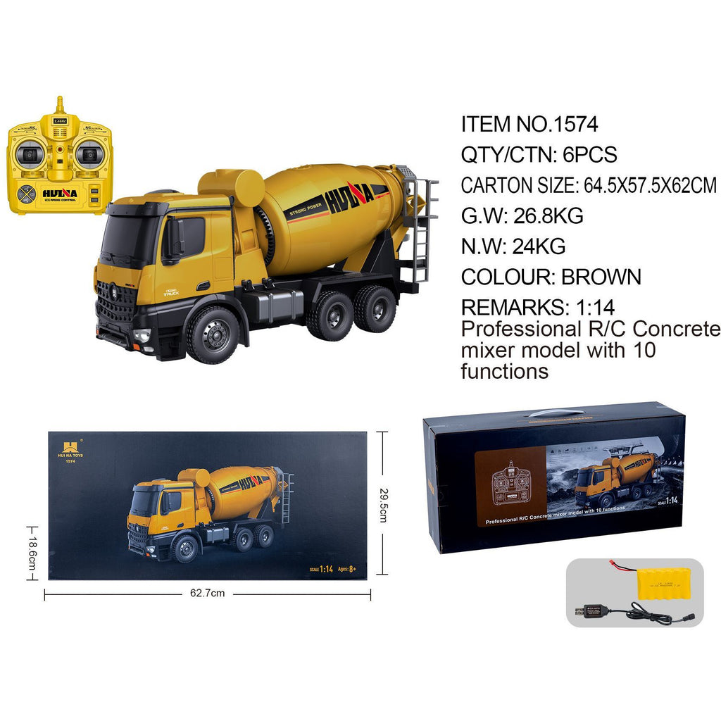 Cement Mixer 1574 & Dump Truck 1573 HuINa Package - RCToysellers