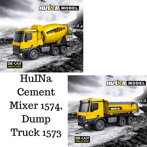 Image of Cement Mixer 1574 & Dump Truck 1573 HuINa Package - RCToysellers