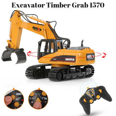 Excavator Timber Grab - HuINa Remote Controlled 1570 - RC Toy Sellers - HuIna