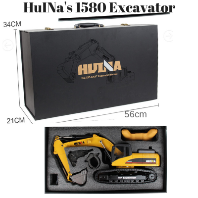 Image of HuINa 1580 Full Metal Die Cast RC Excavator - RC Toy Sellers - HuIna