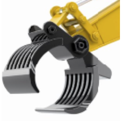 XXTimber Grab Attachment to be used with Excavator 1550 Bucket - RC Toy Sellers