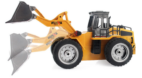 Image of Excavator Bucket 1550 + Timber Grab Attachment, Bulldozer 1520 & Dump Truck 1540 - RCToysellers