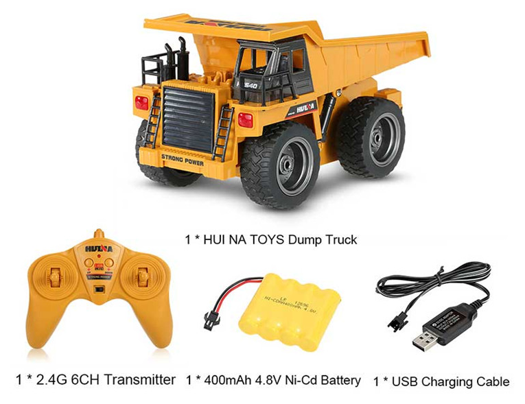 Dump Truck - HuINa  Remote Controlled 1540 - RC Toy Sellers - HuIna