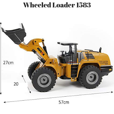 Wheeled Loader Metal Remote Controlled HuINa 1583