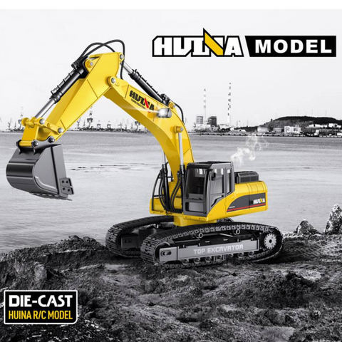 HuINa 1580 Full Metal Die Cast RC Excavator - RC Toy Sellers