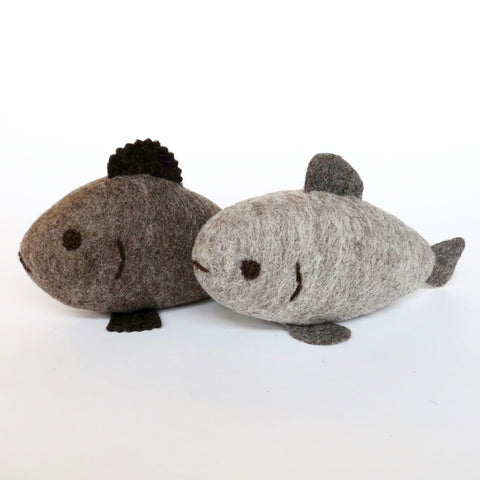 Natural Wool Felt Fish