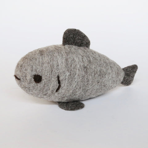 Light Grey Natural Wool Fish