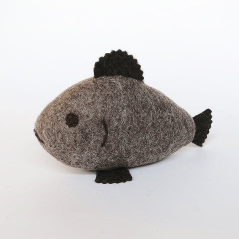 Brown/Taupe Natural Wool Fish