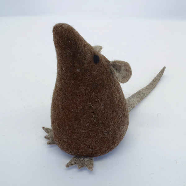 Natural Wool Brown Rat