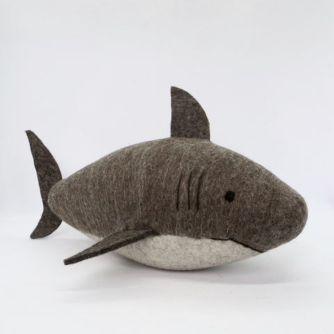 Large Natural Wool Shark