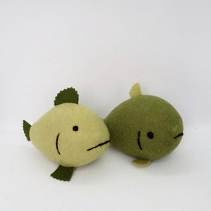 Pair of Green Fish