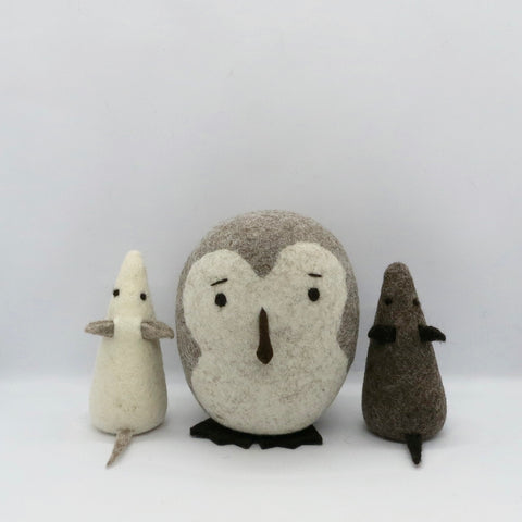 Barn Owl and 2 Mice Gift Set