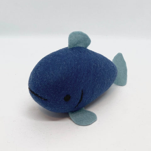 Dark Blue Merino Fish