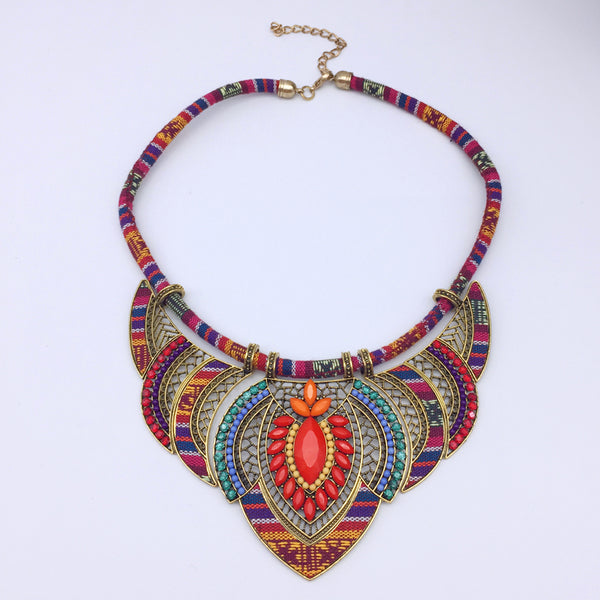 Bohemian Vintage Red Choker Necklace