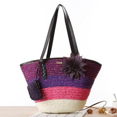 Summer Flower Lilac Beach Bag