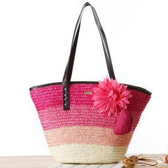 Summer Flower Azalea Beach Bag