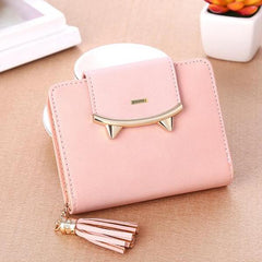 Mini Sharp Tooth Design Pink Wallet