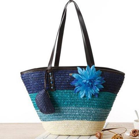 Summer Flower Coral Ocean Beach Bag