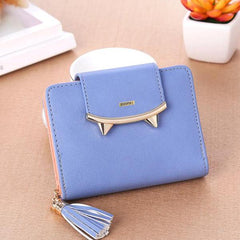 Mini Sharp Tooth Design Blue Wallet