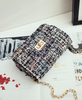 Multi Color Gold Chain Clutch Bag