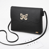 Butterfly flap Black Messenger Purse Bag