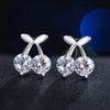 Cherry Shaped Silver Color Earrings