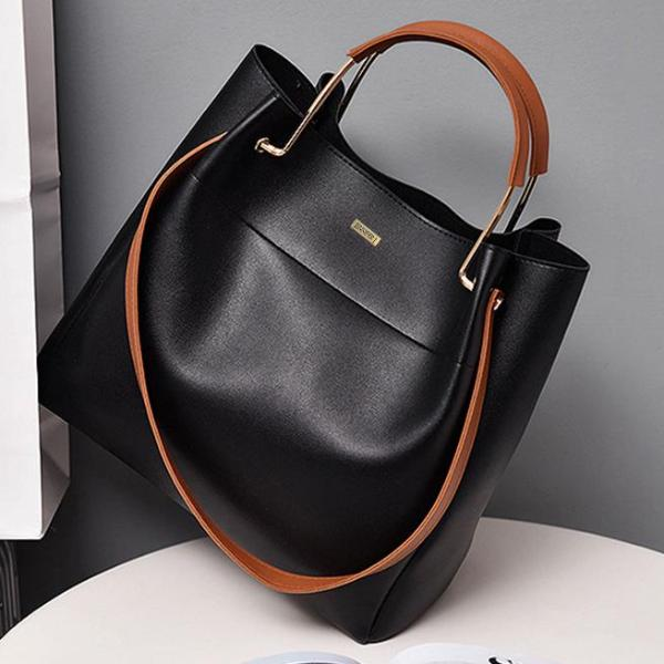 Top Handle Black Shoulder Bag