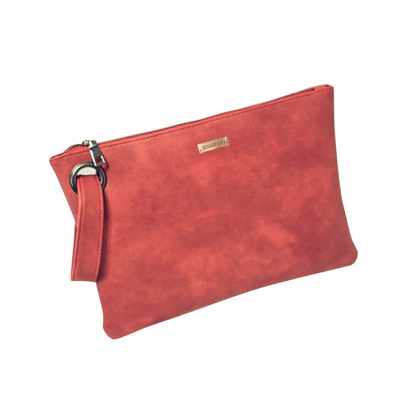 Canvas Red Casual Clutch Bag