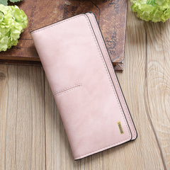 Long Pink Envelope Wallet