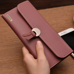 Clutch Long Pink Hasp Wallet