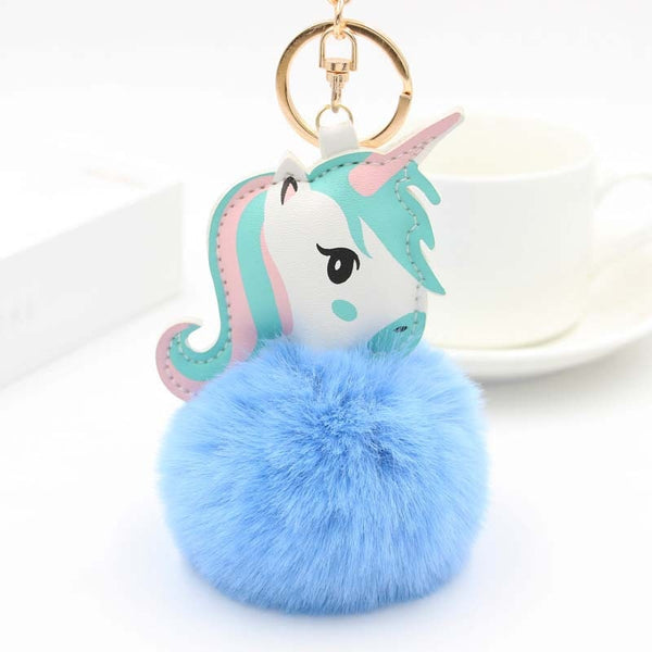 Unicorn Blue Ball Bag Charm