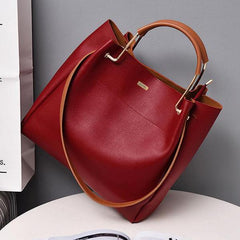 Top Handle Red Shoulder Bag