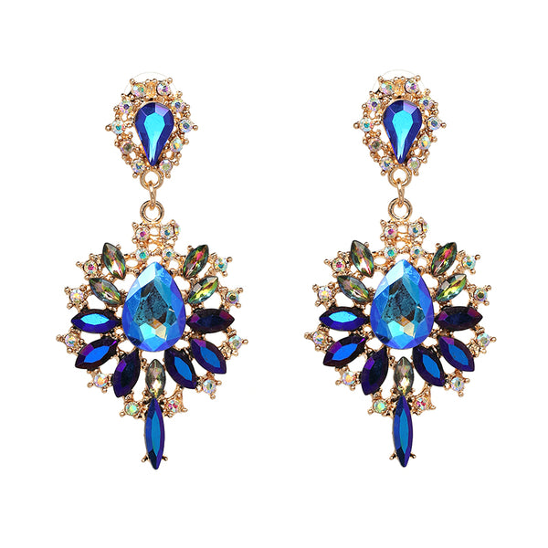Dangle Blue Crystal Earrings