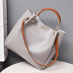 Top Handle White Shoulder Bag