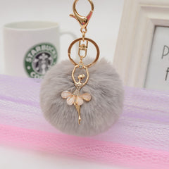 Pom Pom Angel Grey Bag Charm