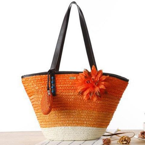 Summer Flower Sunset Beach Bag