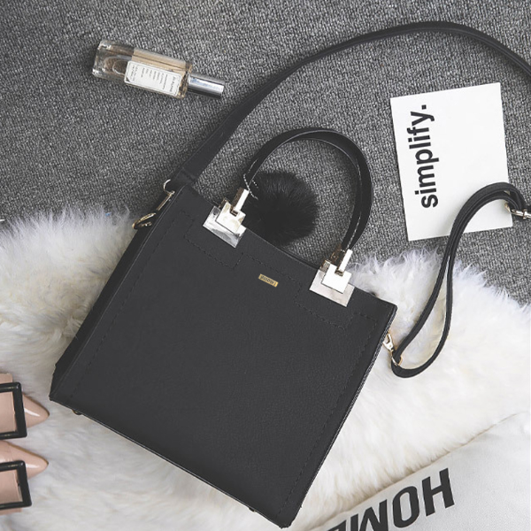 Square Black Handbag