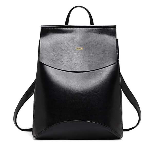 Top-Handle Black Designer Backpack