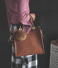 Square Brown Handbag